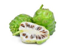 Whole And Half Of Noni Fruit I...