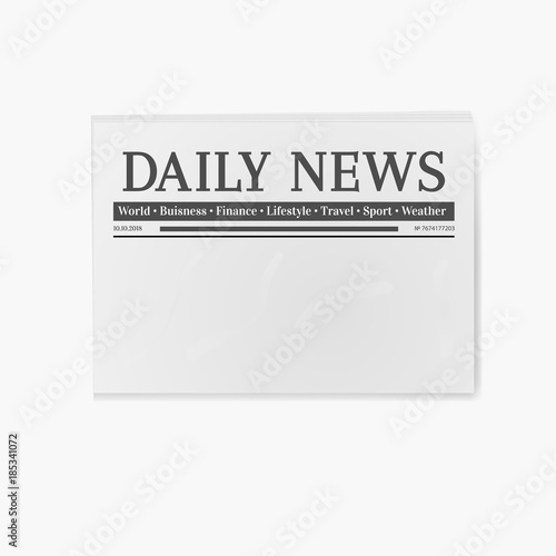 Blank Newspaper Daily News Page Template Illustration Buy This