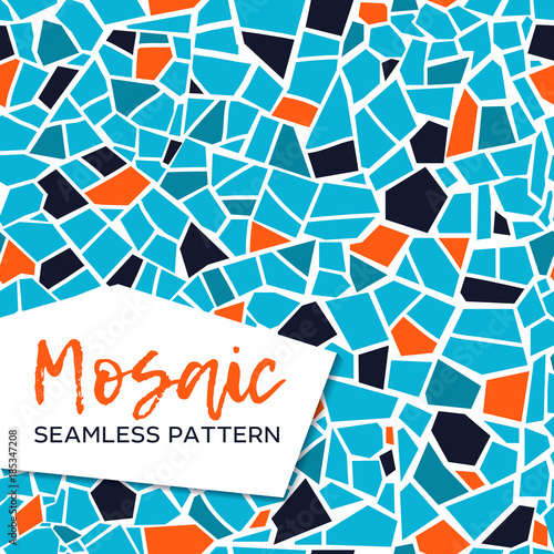 Fotografie, Obraz Bright abstract mosaic seamless pattern