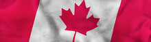 Image Of Canada  Flag Close Up