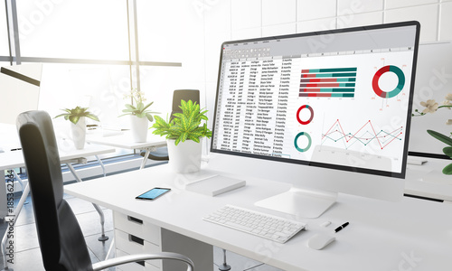computer office financial planning accounting report
