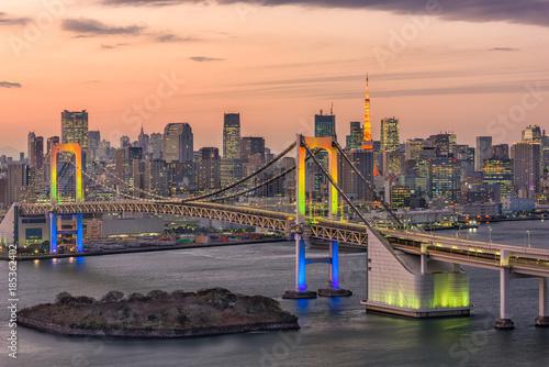 Foto op Canvas Tokyo Tokyo Bay Japan Skyline