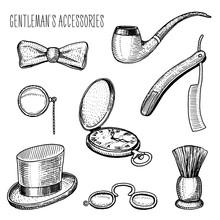Gentleman Accessories. Hipster...