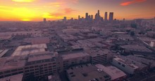 Aerial View Los Angeles Downto...
