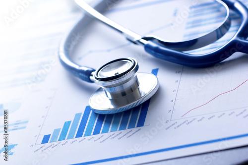 Obraz stetoscopio, salute, medicina, controllo, analisi - fototapety do salonu