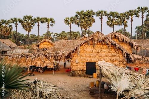 Traditional tribe house in Myanmar Tapéta, Fotótapéta