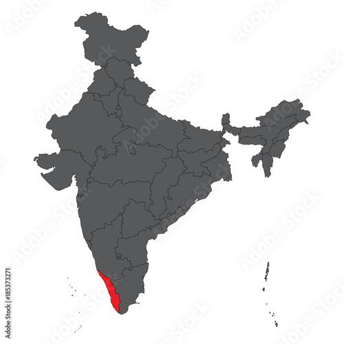 Kerala India World Map on world map india agra, world map iran tehran, world map pakistan lahore,