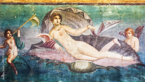 Mars fresco in Pompeii House Italy