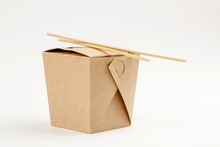 WOK Paper Box  With Food And C...