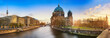 Beautiful panoramic view of Berlin Dome during sunset against  blue sky