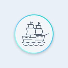 Sailing Vessel, Ship, Sailboat...
