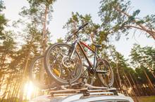 Two Mountain Bikes Fixed On Ro...