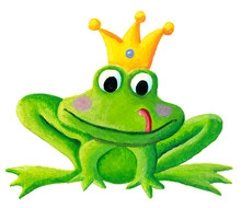Cute Little Frog Prince With A...