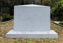 Empty Marble Gravestone In His...