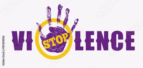 Fotografie, Obraz Stop violence sign
