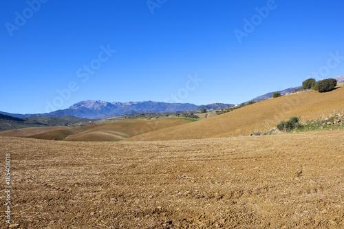 Spoed Foto op Canvas Natuur mountain farmland