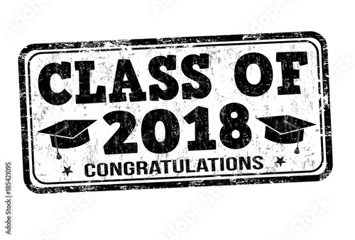 Foto  Class of 2018 stamp