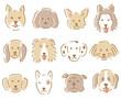 犬の顔 イラスト