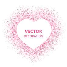 Pink Glitter Heart Frame, Bord...