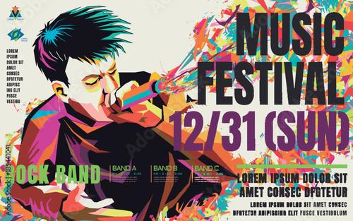 Obraz Music concert poster - fototapety do salonu