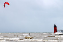 Winter Kite Surfer