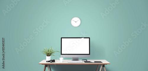 Fotografie, Obraz  Desktop computer screen isolated