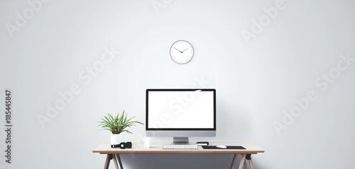 Obraz na plátně  Desktop computer screen isolated