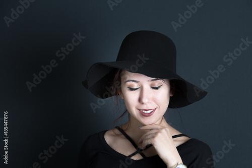 Fototapeta portraits on black background obraz na płótnie