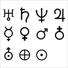 Zodiac And Astrology Symbols O...