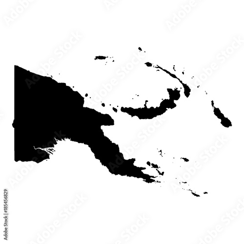 Fotografie, Obraz Vector map Papua New Guinea