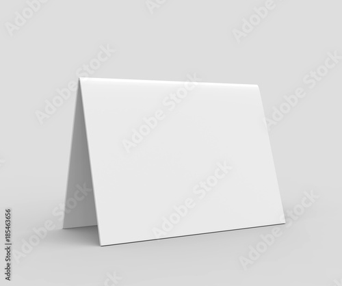 Table Tent Card Blank White D Render Illustration Buy This - Table tent card stock