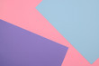 Colorful background of blue, violet and pink sheets of paper.