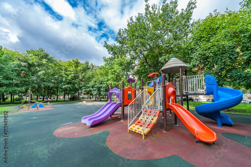 Colorful playground equipment Wallpaper Mural