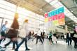 Leinwanddruck Bild blurred business people