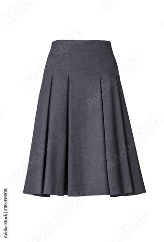 Grey skirt isolated on white background Wall mural