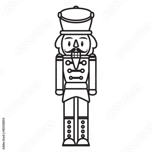 Cuadros en Lienzo Vector cartoon cute nutcracker isolated