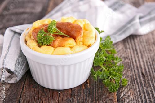Staande foto Zuivelproducten cheese souffle