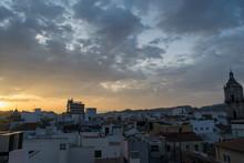 Malaga Sunset City Scape