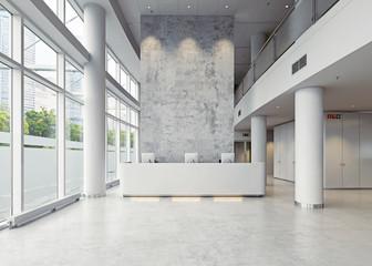 modern business hall