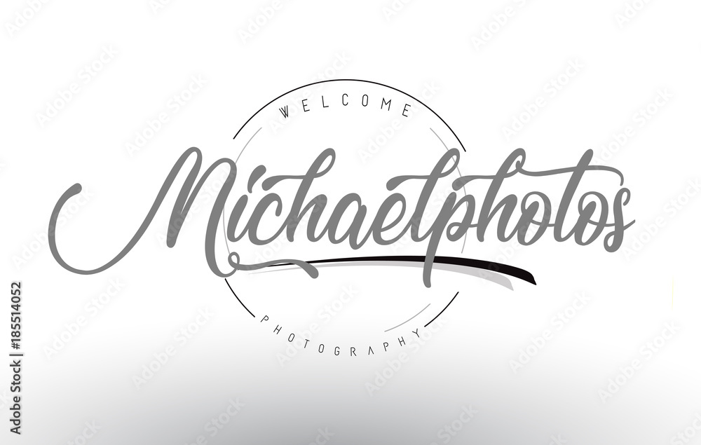 Fototapety, obrazy: Michael Personal Photography Logo Design with Photographer Name.