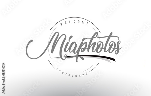 Photo  Mia Personal Photography Logo Design with Photographer Name.