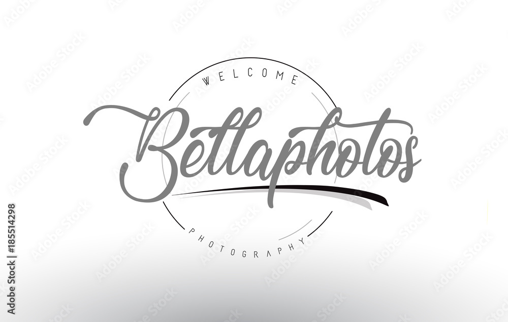 Fototapety, obrazy: Bella Personal Photography Logo Design with Photographer Name.