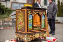 A Barrel Organ At A Christmas ...