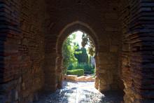 Details Of Ancient Decor. Alcazaba Of Málaga, Andalusia, Spain.