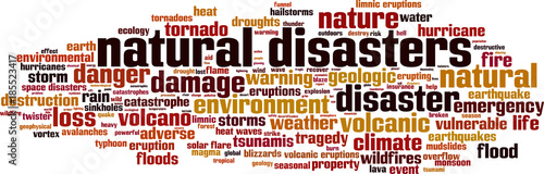 Photo Natural disasters word cloud