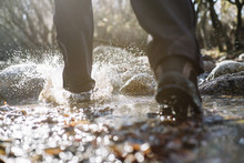 Feet Walking On The River