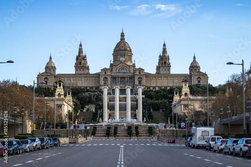 Papiers peints Barcelona National Palace of Barcelona on mountain Montjuic