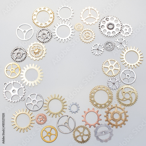 metallic gears background Poster