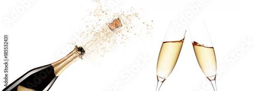 Deurstickers Bar Champagner zum Fest