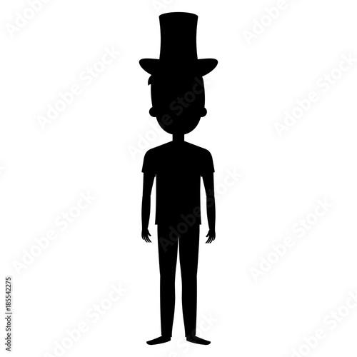 Fotografie, Obraz  man with cilinder hat avatar